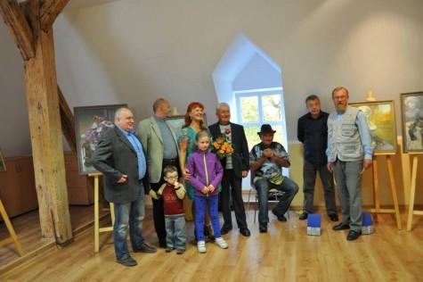 2013 - Wernisaż wystawy Pabiny Pasoń w Bibliotece nr 18 w Rudzie Śląskiej