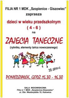 plakat tańce Justyna