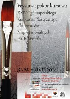 Wróbel 2014 - 2 - plakat na wystawę strona