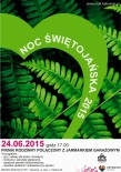 Noc Świętojańska 2015 - plakat
