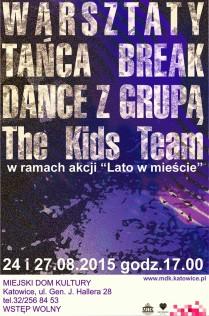 Warsztaty break dance 2015 - plakat - Kopia