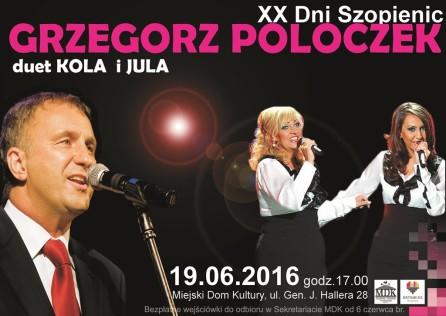 Plakat koncertu XXDni Szopienic - Kopia