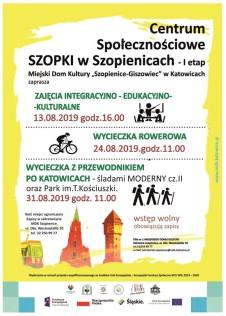 Szopki plakat sierpień 2019