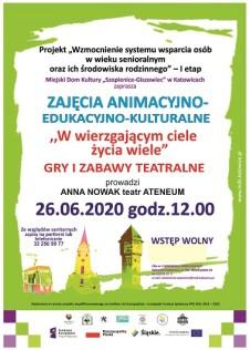 Plakat seniorzy teatr VI 2020 strona