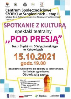 plakat spotkanie z kultura 15.10.21 strona